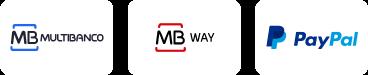 Multibanco, MBWay, PayPal e Transferência Bancária